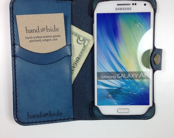 Galaxy A5 Leather Wallet Case - No Plastic - Clearance Sale / Scratch and Dent