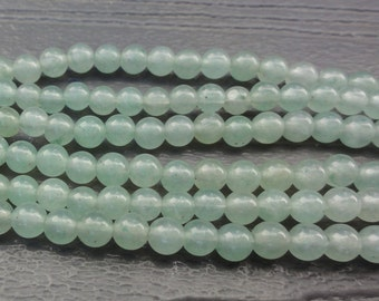 4mm Green Aventurine Beads -  4mm Round Smooth - 16 inch Full Strand - Natural Stone