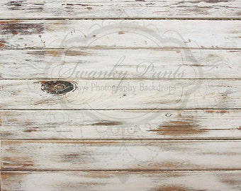9ft x 6ft Vinyl Photography Backdrop for Accessories / White Textured Wood