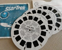 C139)  Vintage STAR TREK GAF View Master Reel Original Reel Set
