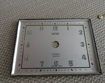 B920)  Vintage Welby Clock Face and Hands  made in Germany