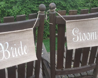 Custom Listing for vanessa rice, Mr and Mrs, Wedding Chair, Burlap Wedding, Rustic Wedding, Reception Banners