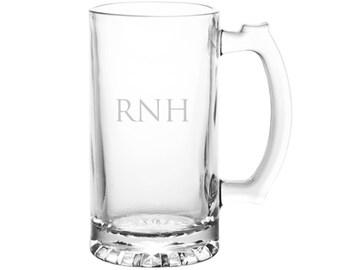 Monogrammed Beer Mug: Groomsmen Beer Mugs, Monogrammed Beer Mugs, Etched Beer Mugs, Custom Beer Mugs, Personalized Beer Stein