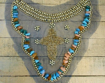 Multi Colored Beaded Appliques