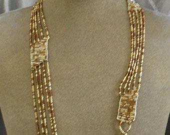 Brown and Gold Beaded Trim