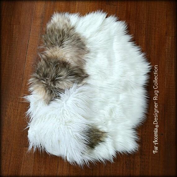 Shaggy Throw Rug: Faux Fur Sheepskin Throw Rug Shaggy Soft Thick Dog