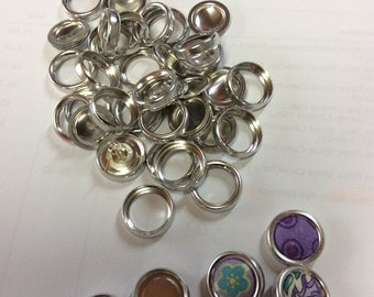 25 x 19mm Vintage rim cover buttons with FLAT backs **very rare & hard to find** - AUST