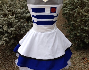 R2D2 costume apron dress