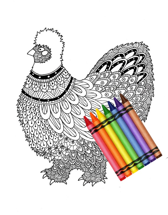 HD wallpapers silkie chicken coloring page