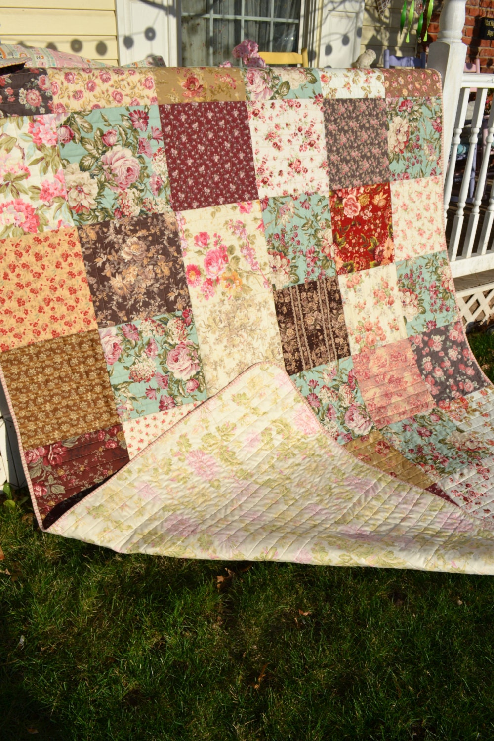 Country Traditional Quilt Cottage Chic By Truelovequiltsforyou