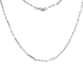 "Antique Silver Necklace  - 20"" Long - Ships IMMEDIATELY from California - CH630"