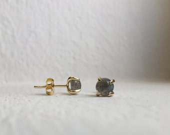 NEW Simple Everyday Earstuds - Labradorite Earrings, Bridesmaids Gift, Gifts for Her