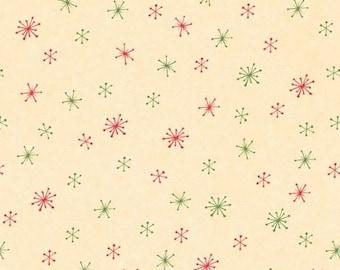 Wilmington Prints - Debbie Mumm - Santa & Friends - Snowflakes