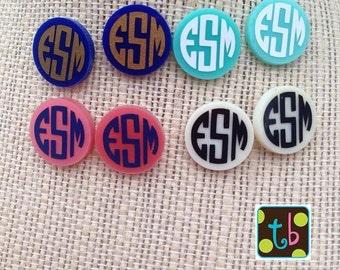 SALE!! Adorable Monogram Personalized Earrings Monogrammed Earrings