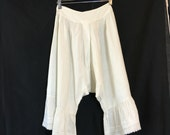 On Sale Antique 19th Century Victorian White Cotton Blouse Bloomers I80