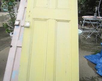 Reserved layaway Door shabby chic yellow chippy shabby chic rustic Bohemian prairie cottage
