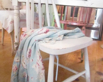 Shabby White chair chippy Vintage shabby chic farmhouse prairie
