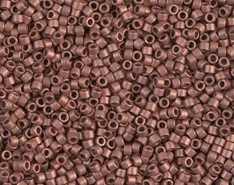 DB0340, MIYUKI DELICA BEAD, 11/0 Matte Copper Plated, 5g, 10g, 15g, Delica Beads