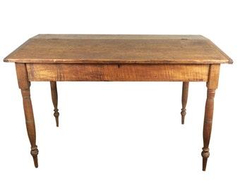 Primitive Antique 19th Century Sheraton Wood Desk