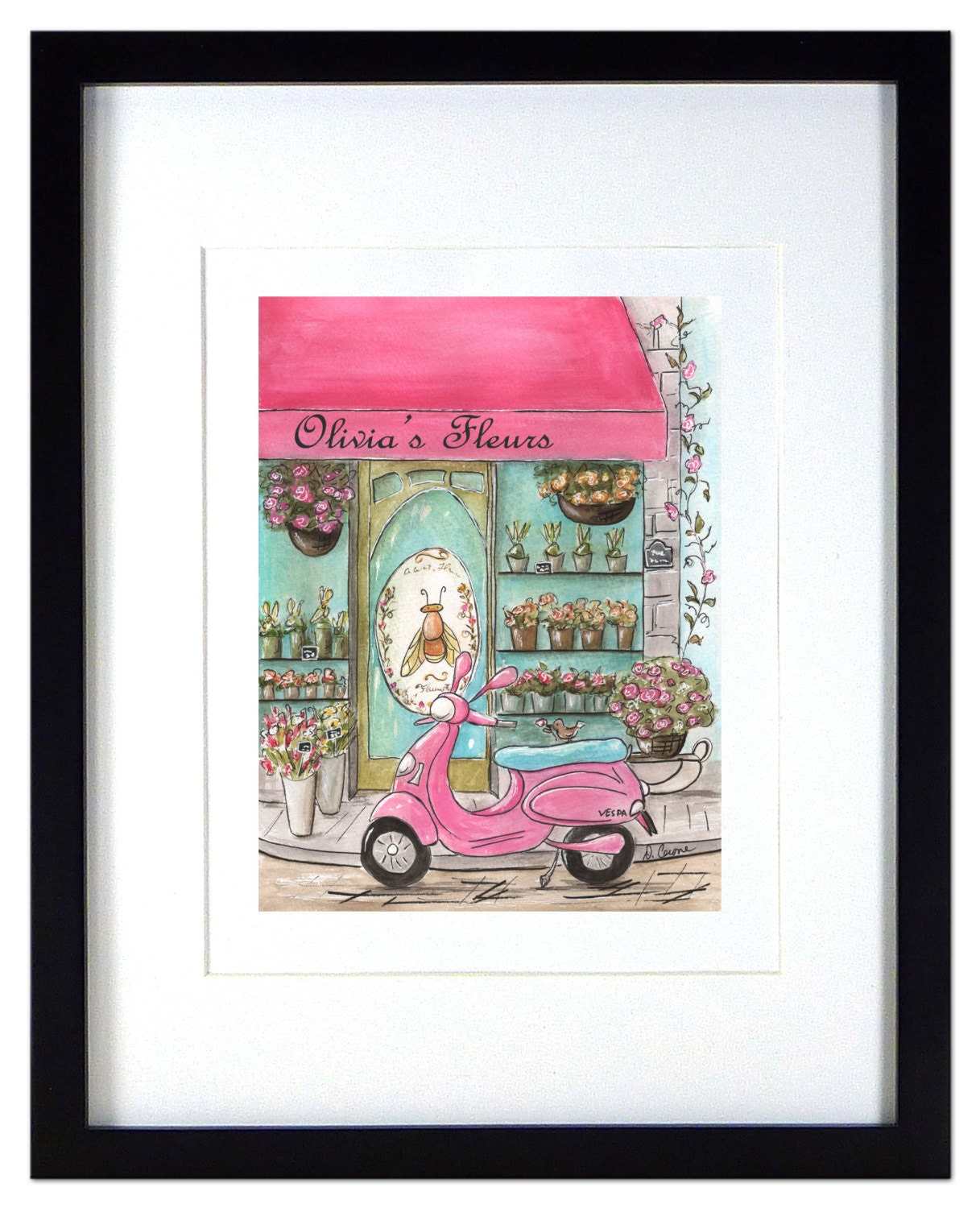 Paris Themed Home Decor: Pink And Black Paris Themed Wall Decor Pink By