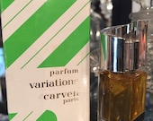 Variations by Carven vintage perfume 1/6oz extrait full w/ box