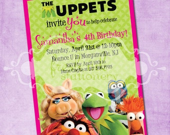 The Muppet Birthday Invite