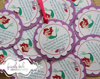 Ariel The Little Mermaid Personalized Tags