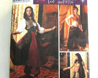 Simplicity Costumes for Adults Pattern 5359 Size HH Womans 6 8 10 12 Gypsy Bellydancer
