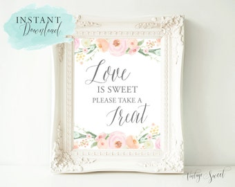 """Instant Download: """"Love is Sweet"""" Sign by Vintage Sweet"""