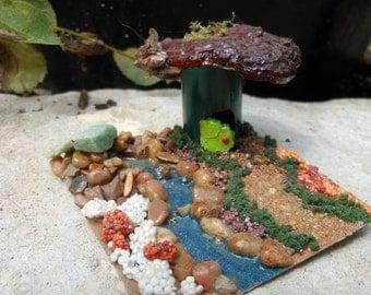 Fairy Terrarium House/River/Terrarium accessory/OOAK