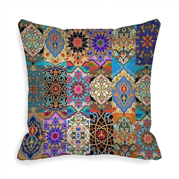 Ready Made Decorative Pillow Covers : Decorative Throw Pillow Covers 18 x 18 inch Boho Kilim Pillow