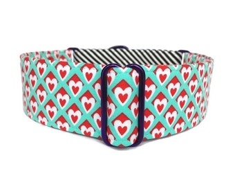 "Wonderland Dog Collar - 1"" or 1.5"" Martingale or Buckle Dog Collar"