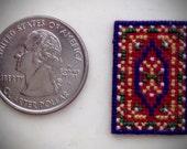 "Dollhouse Quarter Scale  ""Oriental"" Rug - very small"