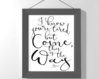 Inspirational Modern Print - black and white - Rumi quote - motivational poster - typography art - home decor - inspirational quote
