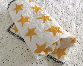 Organic Baby Quilt - Star Pattern