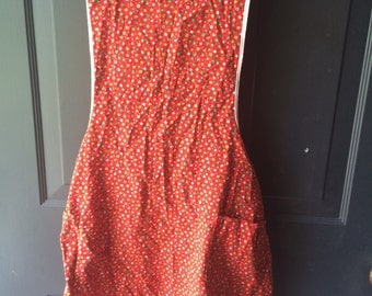 Vintage Bright Colored floral smock ladies one size