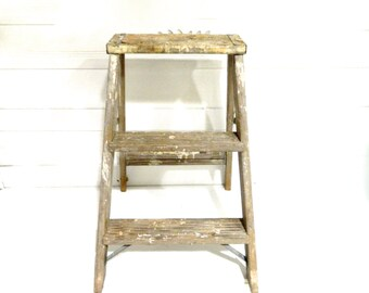 vintage wood ladder shabby chic rustic