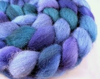 Hydrangea - Handpainted Shetland Wool Roving, 4 oz.