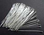 400pcs Silver Head pins,  3 inches long, 21ga, Flat head, DIY Jewelry Making Supplies and Findings