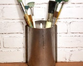 Hanging Utensil Organizer Metal Container with Rounded Front