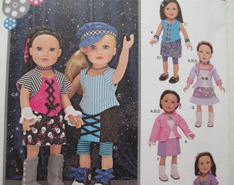 Simplicity 1087--Sewing Pattern to make 18 Inch Doll Clothes