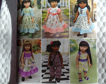 Simplicity 8070--18 Inch Doll Clothing Pattern --New Uncut
