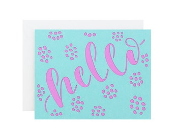 Hello Laser Cut Card