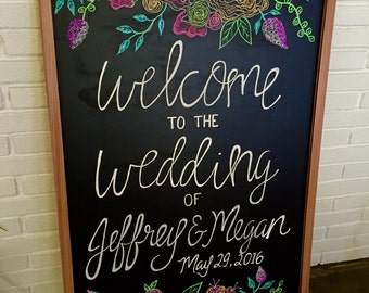 Welcome to the wedding chalkboard sign