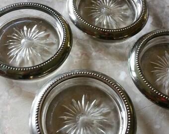 Vintage W&S Blackinton silver plate coasters