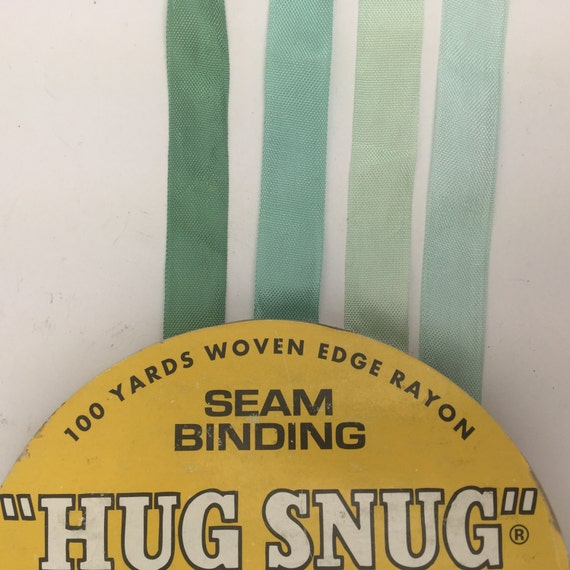 8 Yards Of Shades Of Pale Aqua Hug Snug Rayon Seam Binding