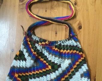 Papua New Guinea Colourful String Bilum Bag