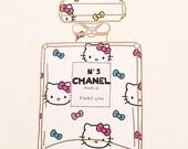 Chanel Bottle Art   Stationary   Wall Art   Wall Decor   Chanel Art