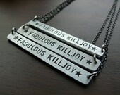 LOOK ALIVE, SUNSHINE // fabulous killjoy! my chemical romance. hand-stamped necklaces, your choice!