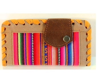 Handmade Women's Genuine Multicolored Suede Leather Wallet